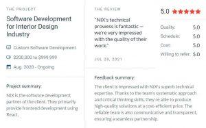 nixsolutions reviews